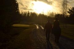 Aurinko paistoi tapaninpäivänä