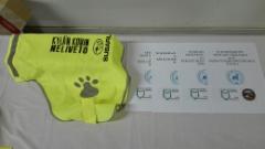 Kaikki koirat palkittiin sponsorilta saaduilla heijastinliiveillä