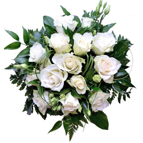 Valkoinen Ruusukimppu  Kukkakauppa Puntti