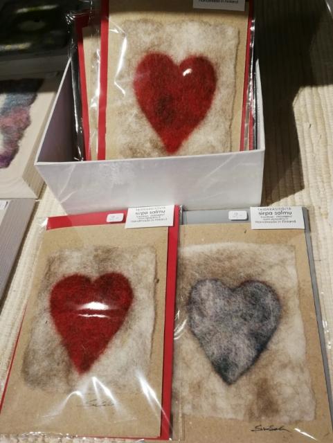 Korteissa huovutettuja sydämiä