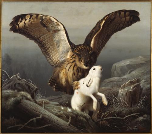 3026-ferdinand-von-wright-huuhkaja-iskee-janikseen-1860-museokuva.jpg