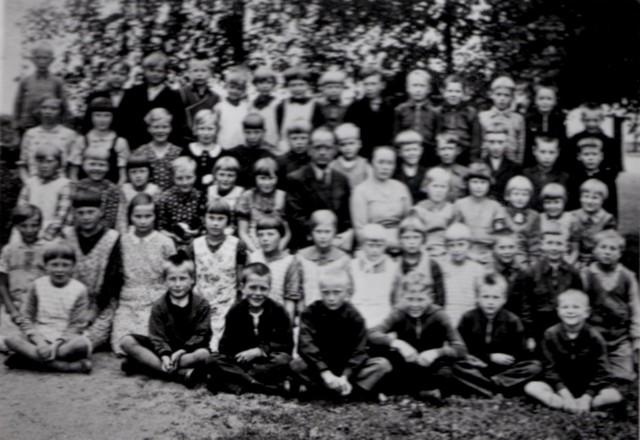 Ylikulman oppilaat n vuonna 1934,