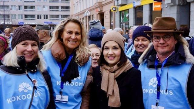 Katja Ståhl, Tarja Pölkki, Sanni Grahn-Laasonen ja Lasse Järvinen 1.4.2017