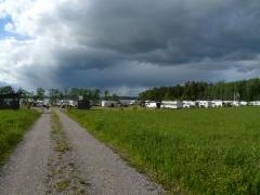 Uhkaavalta näytti taivas, mutta ei satanut