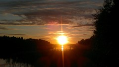 Vehmassalmi kesäinen auringonlasku