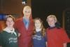 Markon kanssa kuvassa Heli, Marjo ja Paula 1998