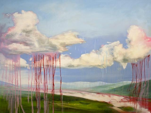 Always raining somewhere 2016, oil on canvas 120x160cm