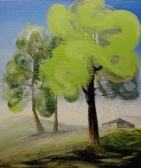 Cottage, 2018 oil on canvas 80x70cm