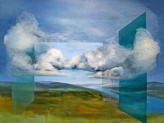 Silence / Hiljaisuus, 2019 oil and acrylics / öljy ja akryyli 120x160 Private collection