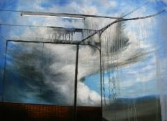Rain / Sade, 2019 oil and acrylics / öljy ja akryyli 86x120cm