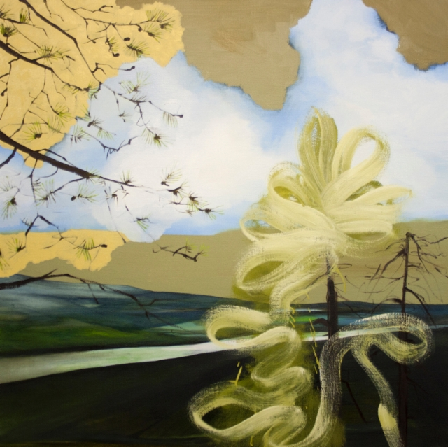 Rolls His Stream, 2015, oil on canvas, 100x100cm