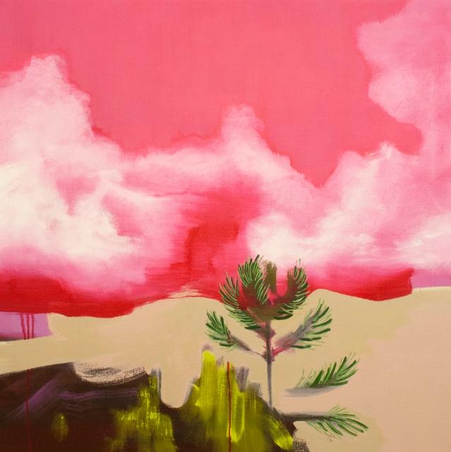 Rolls His Stream III, 2015, oil on canvas, 80x80cm