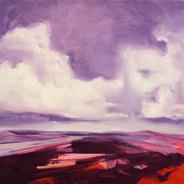 Rolls His Stream II, 2015, oil on canvas, 80x80cm
