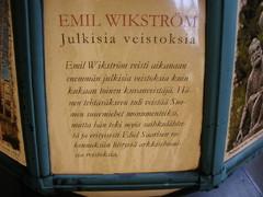 Yksityiskohta Emil Vikströmin museosta.