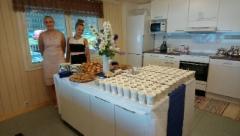 Urheilumajan kahvitus valmiina vastaanottamaan vieraat. Kuva: Anna-Liisa Huhtala