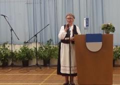 Lea Honkanen toimi Suviehtoon juontajana. Kuva:Anna-Liisa Huhtala