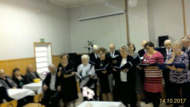 Lauluryhmän esitys.
