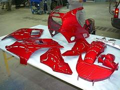 Moottoripyörän katteet valmiina