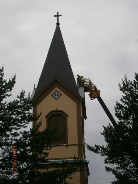 Kirkon katon maalaus