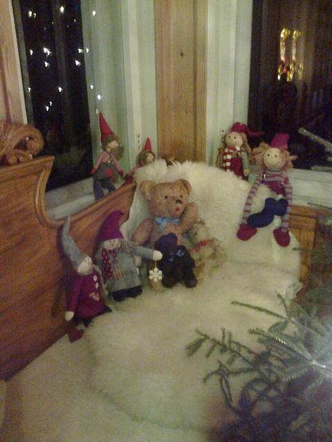 Nallet joulunvietossa