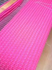 Pinkki matto (2012) kangaspuissa