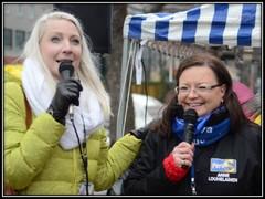 Porissa Laura Huhtasaaren kanssa 21.2.2015