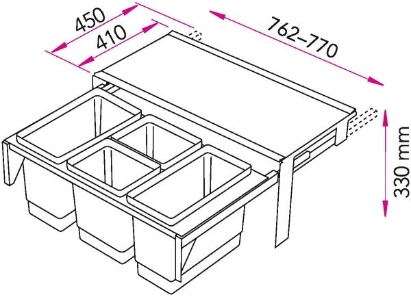Jätevaunu Stala EkoCombo EKOC8 4SK 2×16 L + 2×10 L [5952030]  Suomen edullis