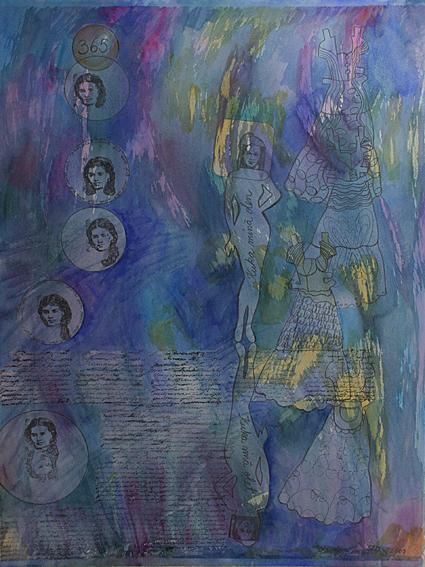 pysähdys 1, akvarelli