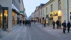 Kävelykadulla Västeråsissa