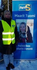 Vaalityössä Katumalla.