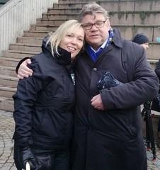 Soinin kanssa Lahden markkinatorilla 1.4.2015
