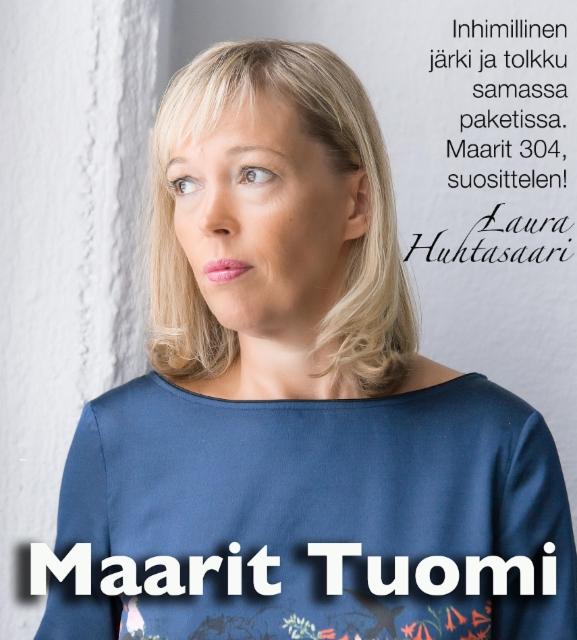 Laura Huhtasaari suosittelee