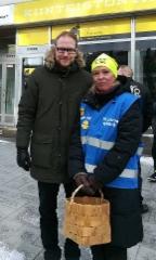 Piirin vaalikiertueella Hämeenlinnassa Olli Immosen kanssa 8.3.2019