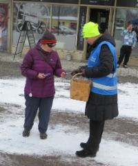 Vaalityössä Heinolassa 9.3.2019