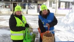 Vaalityössä Annen kanssa Heinolassa 9.3.2019