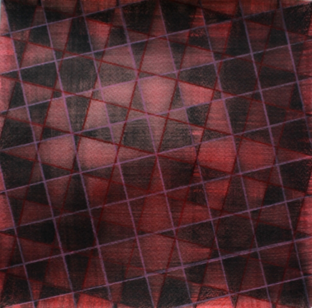 Red squares on paper