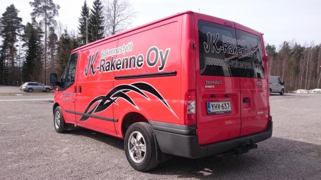 Jk-Rakenne autoteippaus