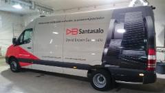 DB Santasalo auton mainosteippaus