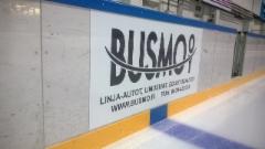 Jääkiekkokaukalon mainosteippaus