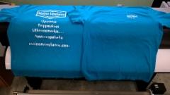 T-paidat yrityksen logolla
