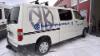 Karjalan Kylmäpalvelun teipattu pakettiauto