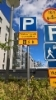 Piha-alueen liikennemerkit asennettuna