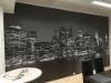 New York aiheinen seinätapetti