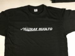 RAK HUOLTO t-paidat painettuna
