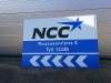 NCC työmaa osoitekyltit