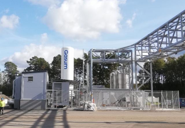 Turun biokaasulaitoksen Gasum teippaus