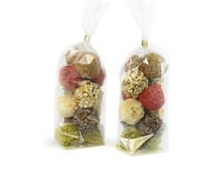 Voit tarjota tryffeleitä myyntiin irtona, mutta myös tehdä niistä kauniita lahjapaketteja!