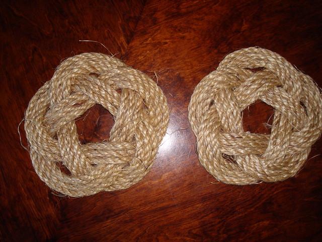 Small round rope mat, Köysimatto