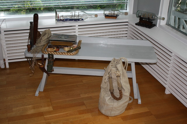 My sailmaker's bench and my ditty bag