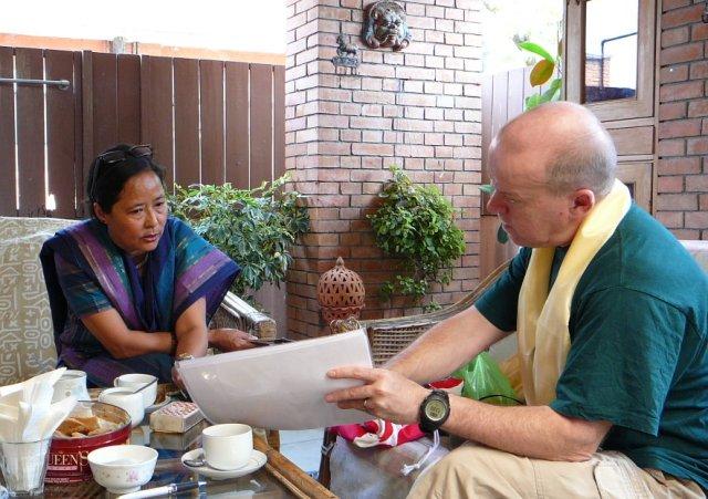 Esther ja/and Mikko palaveri/ meeting